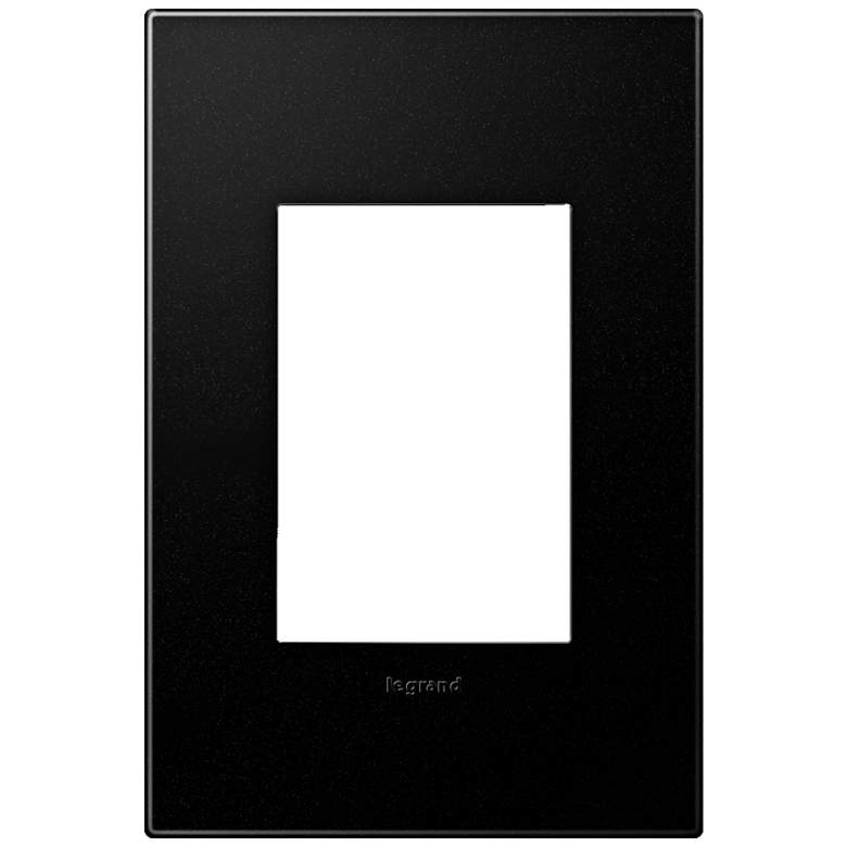 adorne® Graphite 1-Gang 3-Module Snap-On Wall Plate