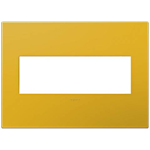 adorne® Honey 3-Gang Snap-On Wall Plate