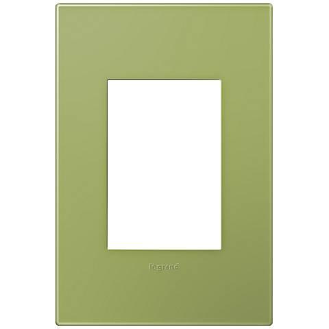 adorne® Lichen Green 1-Gang 3-Module Snap-On Wall Plate