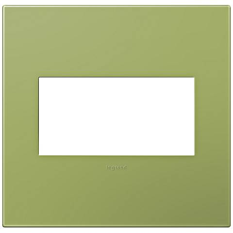 adorne® Lichen Green 2-Gang Snap-On Wall Plate