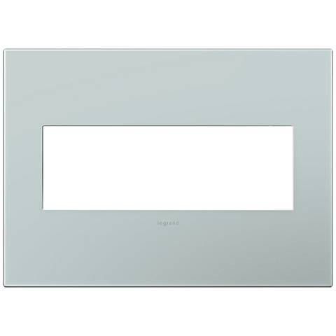 adorne® Pale Blue 3-Gang Snap-On Wall Plate
