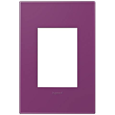 adorne® Plum 1-Gang 3-Module Snap-On Wall Plate