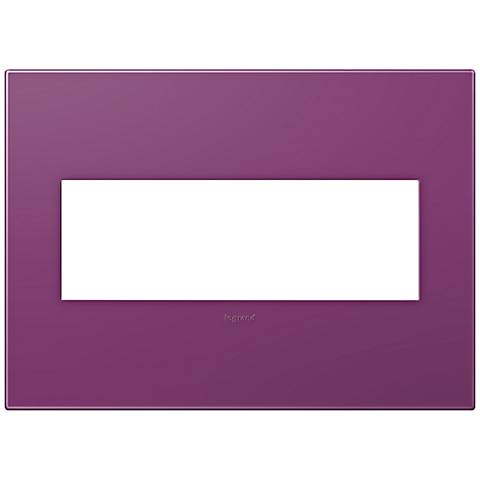 adorne® Plum 3-Gang Snap-On Wall Plate
