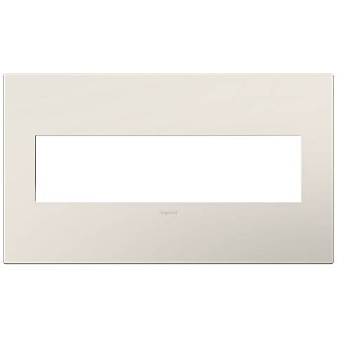 adorne® Satin Almond 4-Gang Snap-On Wall Plate