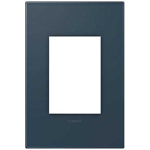 adorne® Soft Touch Felt Green 1-Gang 3-Module Wall Plate