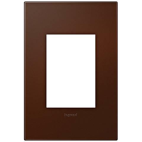 Adorne Soft Touch Russet 1-Gang 3-Module Wall Plate