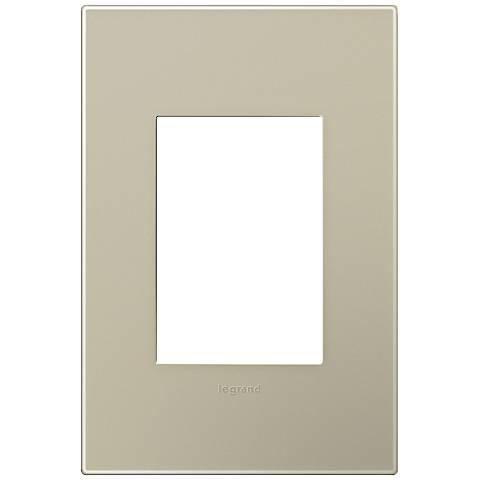 adorne® Snap-On Titanium 1-Gang 3-Module Wall Plate