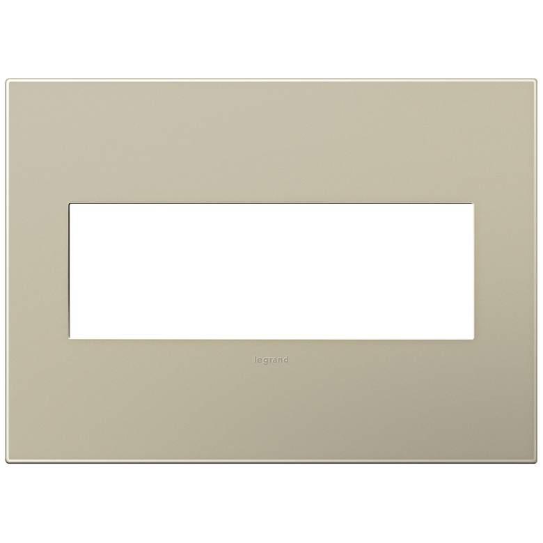 adorne® Snap-On Titanium 3-Gang Wall Plate