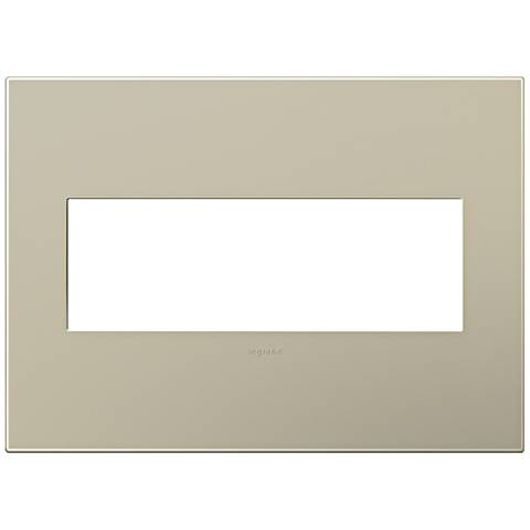 adorne® Snap-On Titanium 3-Gang Wall Plate