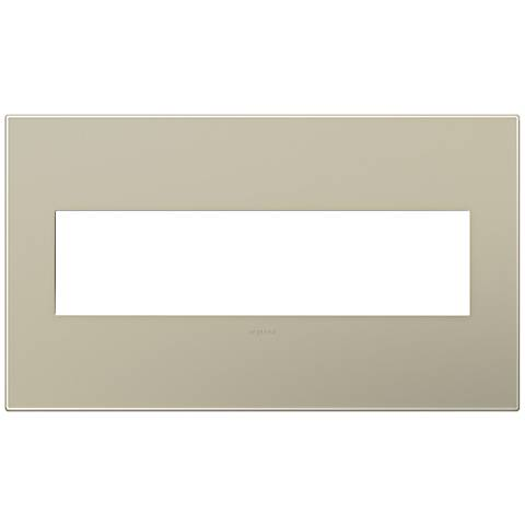adorne® Snap-On Titanium 4-Gang Wall Plate
