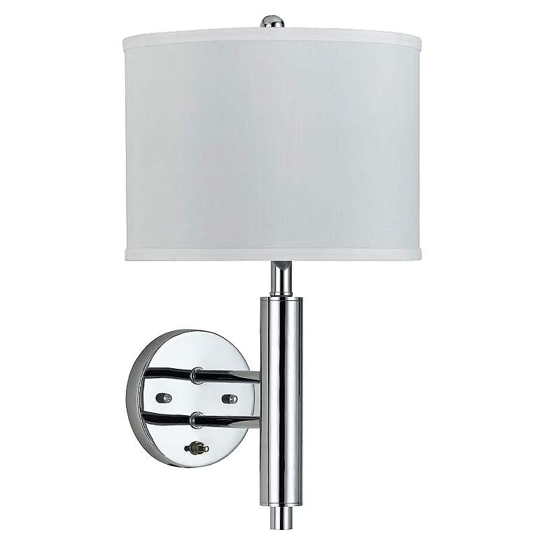 Cal Lighting Chrome Rounded Plug-In Wall Lamp