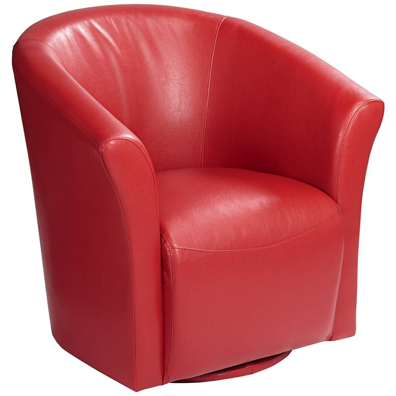 Elements Rocket Rivera Red Swivel Accent Chair