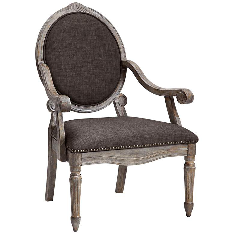Brentwood Gray Exposed Wood Armchair