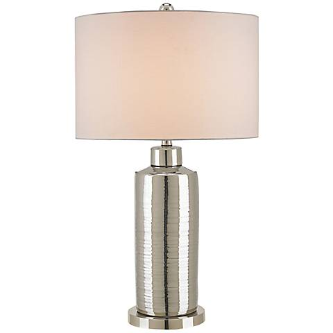 Currey and Company Calypso Silver Porcelain Table Lamp