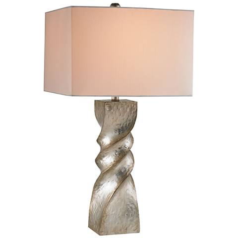 Currey and Company Danzey Polished Silver Leaf Table Lamp