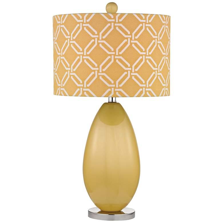 Sevenoakes Yellow Glass Table Lamp