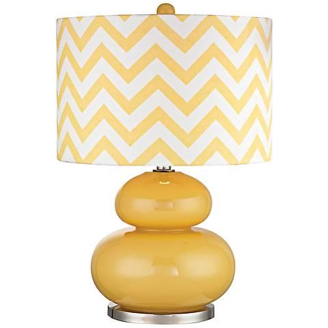 Dimond Tavistock Yellow Glass Table Lamp