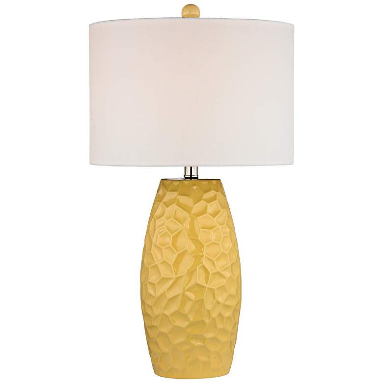 Selsey Yellow Ceramic Table Lamp