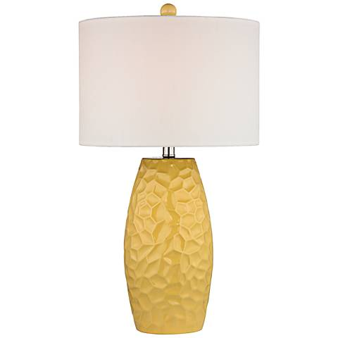 Dimond Selsey Yellow Ceramic Table Lamp