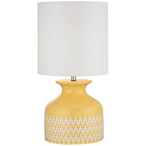 Dimond Carnforth Sunshine Yellow Ceramic Accent Table Lamp