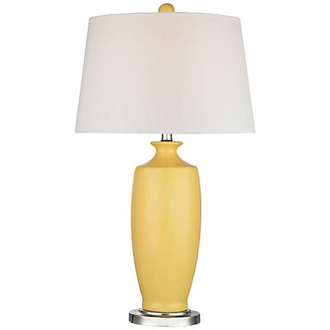 Dimond Halisham Yellow Ceramic Table Lamp