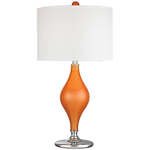 Dimond Tilbury Tangerine Orange Glass Table Lamp