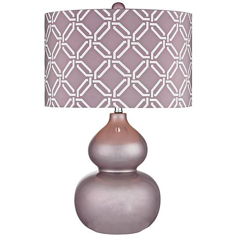 Dimond Ivybridge Lilac Ceramic Table Lamp
