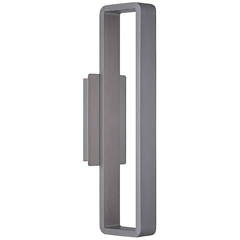 "WAC Janus 22"" High Graphite LED Outdoor Wall Light"