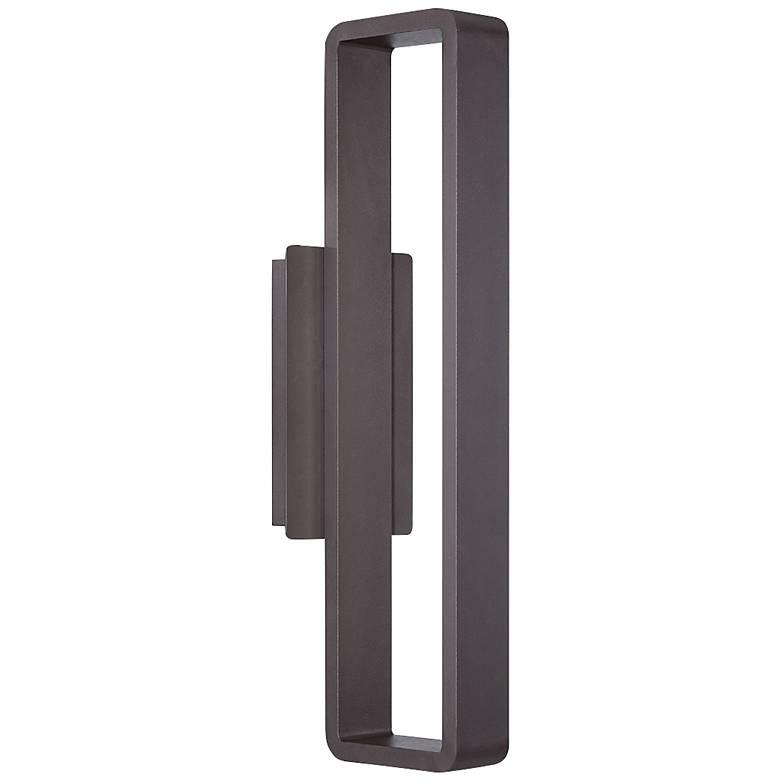 """WAC Janus 22"""" High Bronze LED Outdoor Wall Light"""