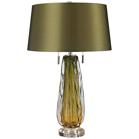Dimond Modena Green Blown Glass Table Lamp
