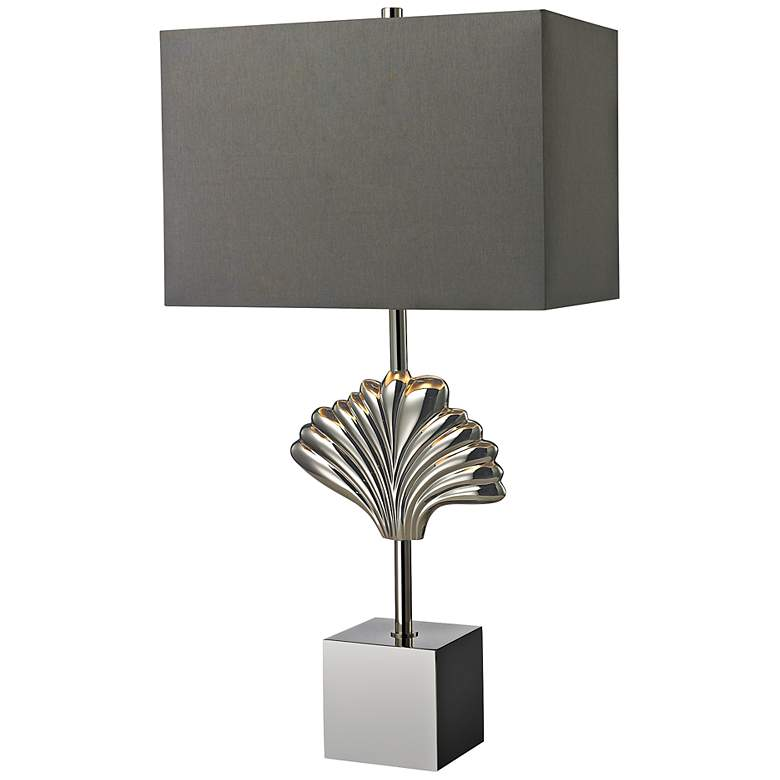 Vergato Chrome and Solid Brass Table Lamp