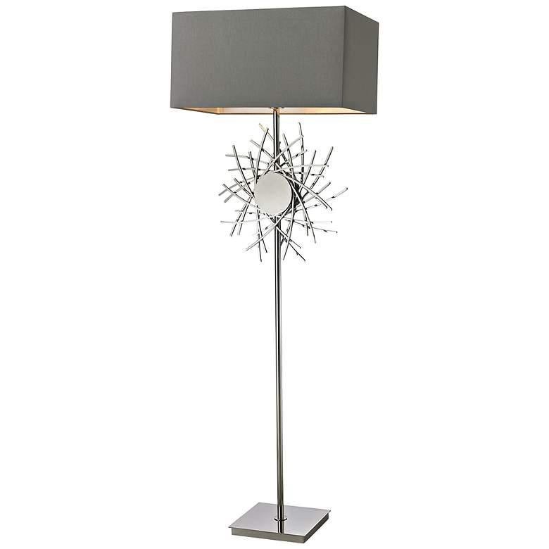 Cesano Abstract Metalwork Floor Lamp
