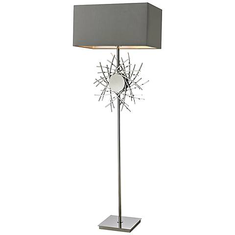 "Dimond 62"" High Cesano Abstract Metalwork Floor Lamp"