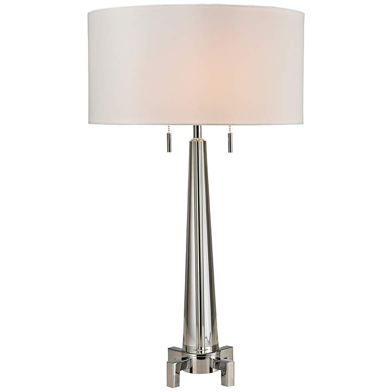 Bedford Chrome Crystal Table Lamp