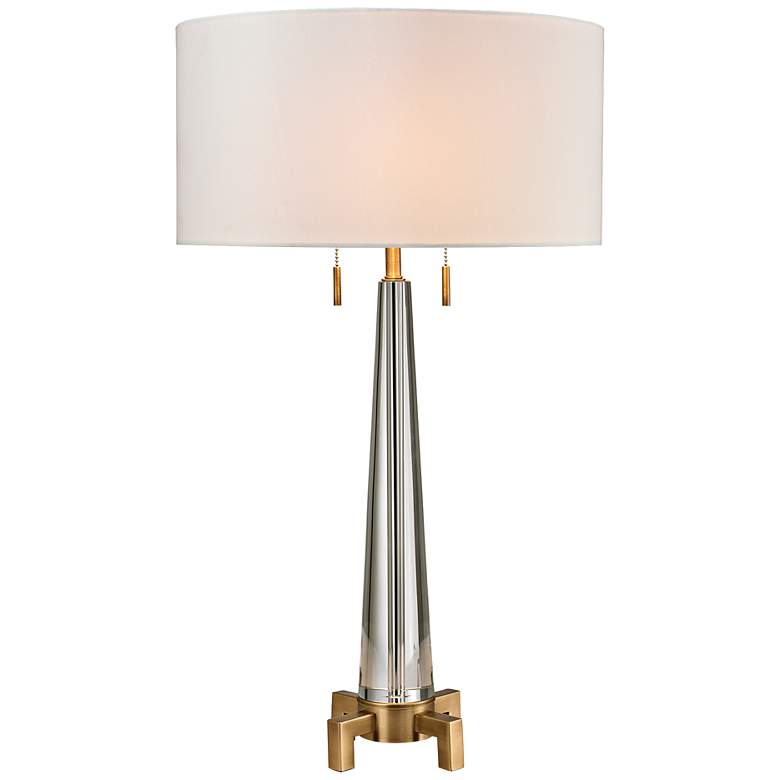 Bedford Brass Crystal Table Lamp