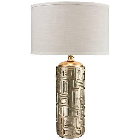 Keyser Silver Leaf Geometric Table Lamp