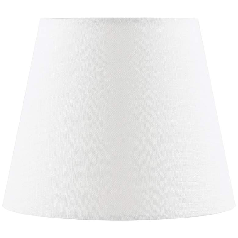 Off-White Linen Drum Lamp Shade 4x6x5 (Clip-On)