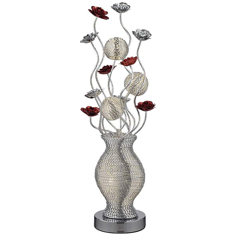 Flute Floral Display LED Table Lamp