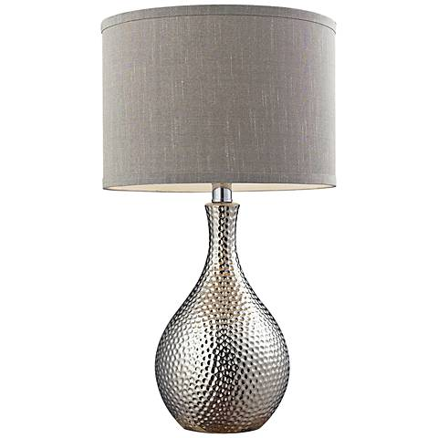 Dimond Hammered Chrome Ceramic Table Lamp
