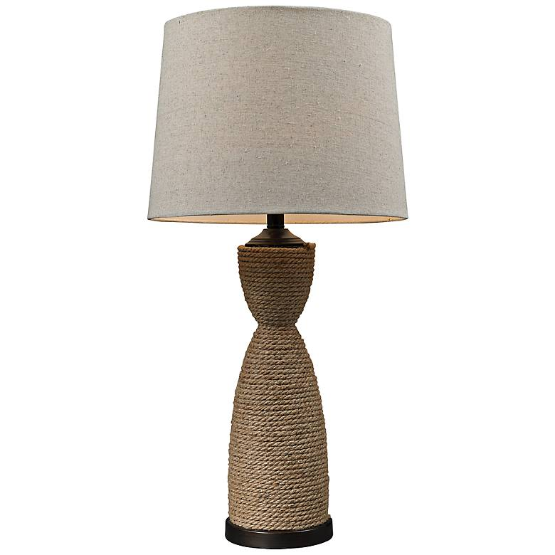 Dark Brown Wrapped Rope Table Lamp