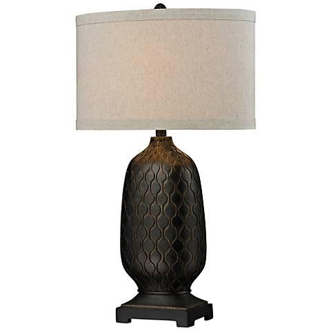 Dimond Oval Bronze Table Lamp