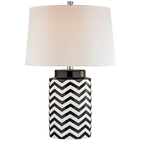 Dimond Black and White Chevron Table Lamp