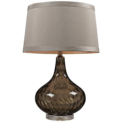 Dimond Coffee Smoked Water Glass Table Lamp