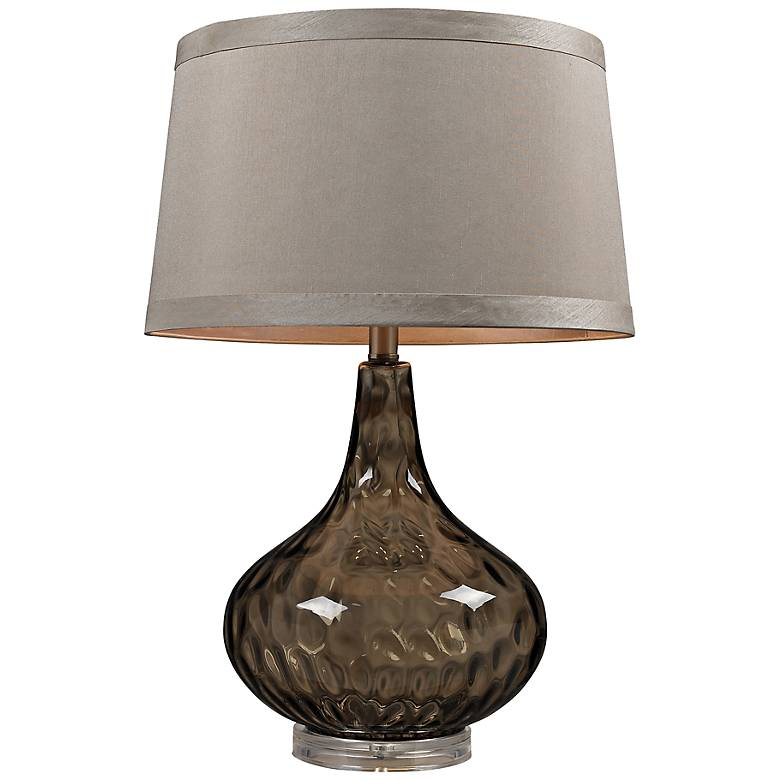 Coffee Smoked Water Glass Table Lamp