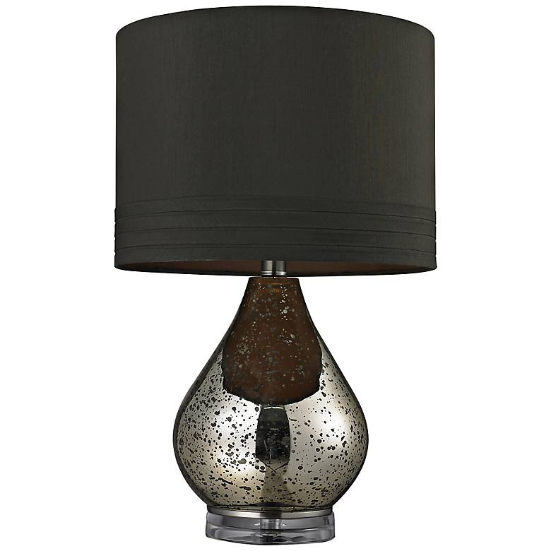 Antique Mercury Glass with Brown Shade Table Lamp
