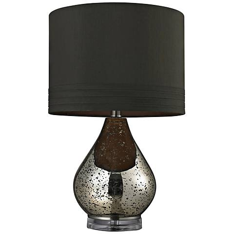 Dimond Antique Mercury Glass with Brown Shade Table Lamp ...