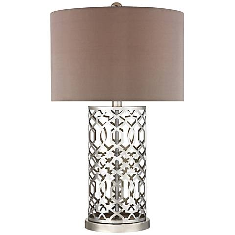Dimond Polished Nickel Laser Cut Metal Table Lamp