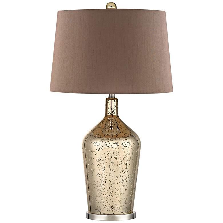 Antique Gold Mercury Glass Bottle Table Lamp