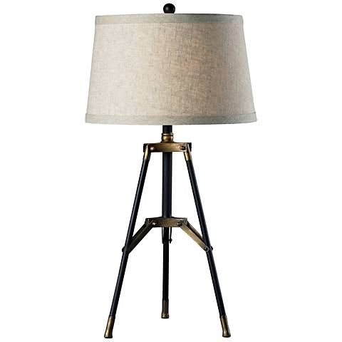 Dimond Black and Gold Functional Tripod Table Lamp