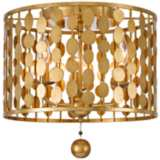 "Crystorama Layla 15"" Wide Antique Gold Ceiling Light"